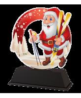 Santa Skiing Christmas Trophy
