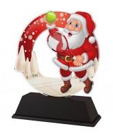 Santa Tennis Christmas Trophy