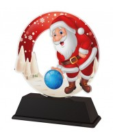 Santa Tenpin Bowling Christmas Trophy