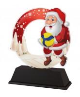 Santa Volleyball Christmas Trophy