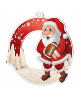 Snowy Father Christmas American Football Medal
