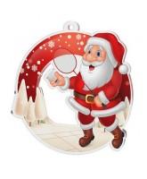 Snowy Father Christmas Badminton Medal
