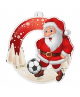 Snowy Father Christmas Football Medal