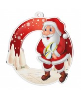 Snowy Father Christmas Rugby Medal