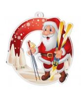 Snowy Father Christmas Ski Medal