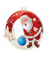 Snowy Father Christmas Tenpin Bowling Medal