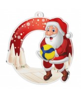 Snowy Father Christmas Volleyball Medal