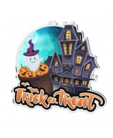 Haunted House Trick or Treat Medal