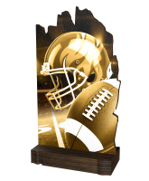 Shard Classic American Football Eco Friendly Wooden Trophy