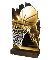 Shard Classic Basketball Eco Friendly Wooden Trophy