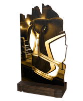 Shard Classic Boxing Eco Friendly Wooden Trophy