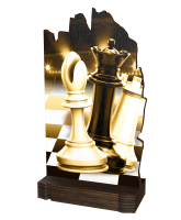 Shard Classic Chess Eco Friendly Wooden Trophy