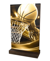 Sherwood Classic Basketball Eco Friendly Wooden Trophy