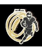Acacia American Football Gold Eco Friendly Wooden Medal