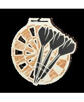 Acacia Darts Bronze Eco Friendly Wooden Medal