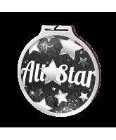 Habitat All Star Silver Eco Friendly Wooden Medal