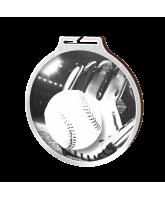 Habitat Classic Baseball Silver Eco Friendly Wooden Medal
