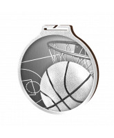 Habitat Classic Basketball Silver Eco Friendly Wooden Medal