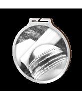 Habitat Classic Cricket Silver Eco Friendly Wooden Medal