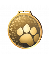 Habitat Classic Dog Paw Gold Eco Friendly Wooden Medal