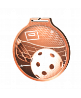 Habitat Classic Floorball Bronze Eco Friendly Wooden Medal