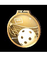 Habitat Classic Floorball Gold Eco Friendly Wooden Medal