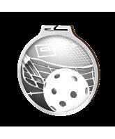Habitat Classic Floorball Silver Eco Friendly Wooden Medal