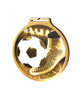 Habitat Classic Football and Boot Gold Eco Friendly Wooden Medal