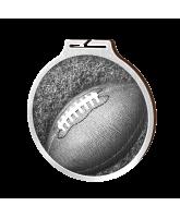 Habitat Classic Gridiron Football Silver Eco Friendly Wooden Medal