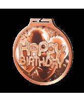 Habitat Classic Happy Birthday Bronze Eco Friendly Wooden Medal