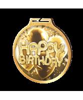 Habitat Classic Happy Birthday Gold Eco Friendly Wooden Medal