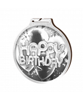 Habitat Classic Happy Birthday Silver Eco Friendly Wooden Medal