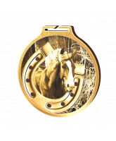 Habitat Classic Horseshoe Equestrian Gold Eco Friendly Wooden Medal