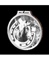 Habitat Classic Horseshoe Equestrian Silver Eco Friendly Wooden Medal