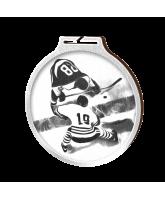 Habitat Classic Ice Hockey Silver Eco Friendly Wooden Medal