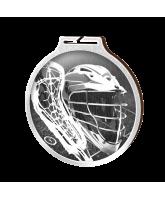 Habitat Classic Lacrosse Silver Eco Friendly Wooden Medal