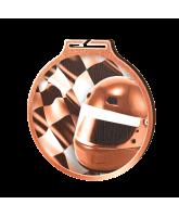 Habitat Classic Motorsports Flag Bronze Eco Friendly Wooden Medal