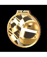 Habitat Classic Motorsports Flag Gold Eco Friendly Wooden Medal