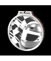 Habitat Classic Motorsports Flag Silver Eco Friendly Wooden Medal