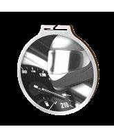Habitat Classic Motorsports Silver Eco Friendly Wooden Medal