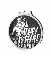 Habitat Classic Muay Thai Silver Eco Friendly Wooden Medal