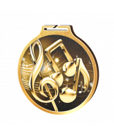 Habitat Classic Music Gold Eco Friendly Wooden Medal