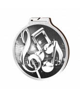 Habitat Classic Music Silver Eco Friendly Wooden Medal
