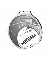 Habitat Classic Netball Silver Eco Friendly Wooden Medal