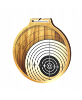 Habitat Classic Shooting Target Gold Eco Friendly Wooden Medal