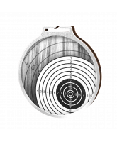 Habitat Classic Shooting Target Silver Eco Friendly Wooden Medal