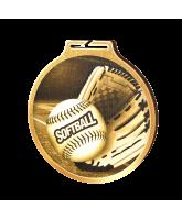 Habitat Classic Softball Gold Eco Friendly Wooden Medal