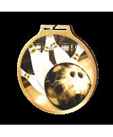 Habitat Classic Tenpin Bowling Gold Eco Friendly Wooden Medal
