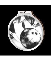 Habitat Classic Tenpin Bowling Silver Eco Friendly Wooden Medal