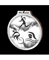 Habitat Classic Triathlon Silver Eco Friendly Wooden Medal